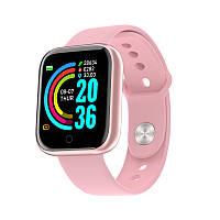 Смарт-часы Smart Watch YC68 Pink, спорт часы, умные часы, наручные часы, фитнес браслет, фитнес трекер, фото 1