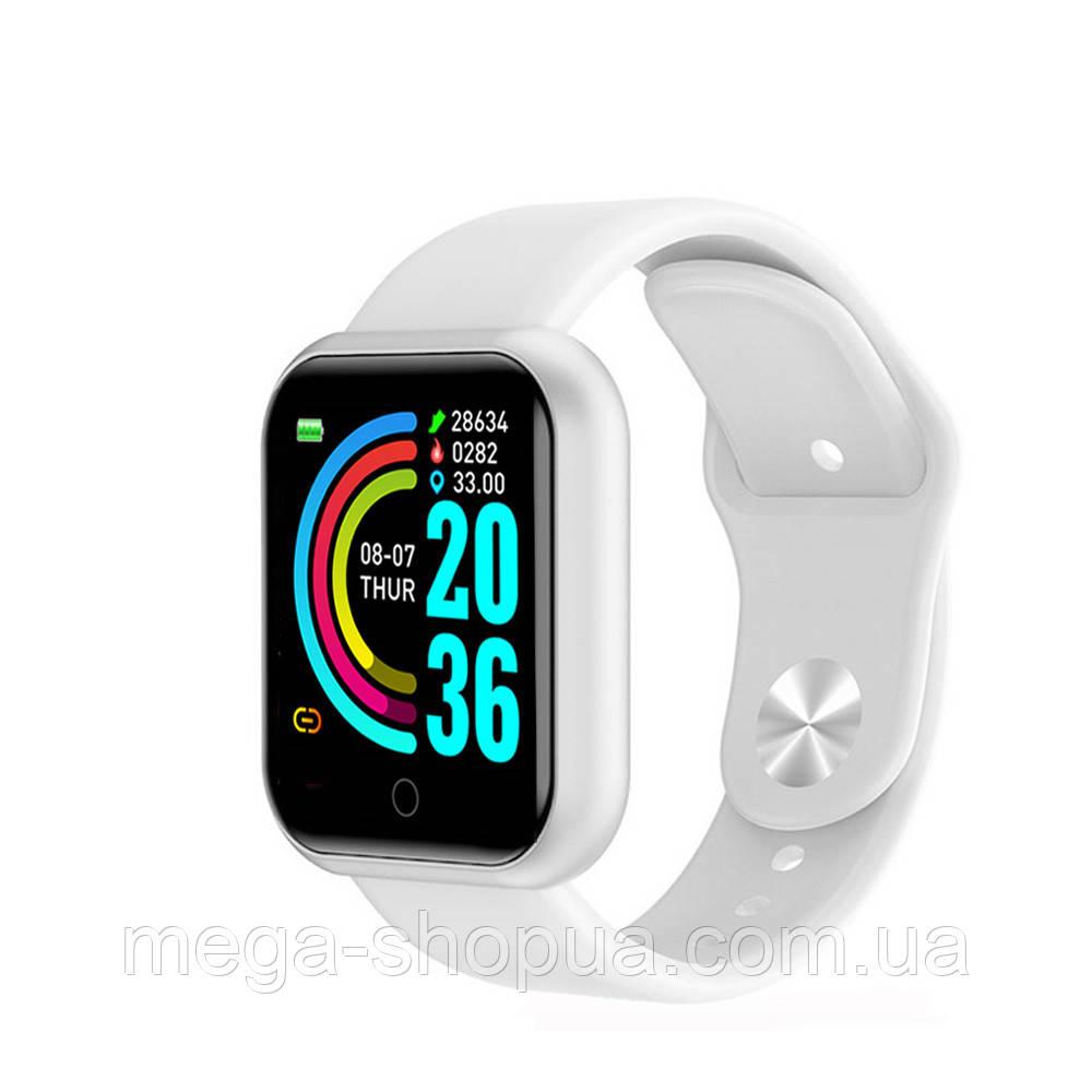 Смарт-часы Smart Watch YC68 White, спорт часы, умные часы, наручные часы, фитнес браслет, фитнес трекер