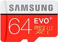 Карта памяти Samsung EVO Plus microSDXC UHS-I сlass10 SD adapter 64GB 52620, КОД: 1586893