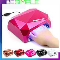 Сушилка для ногтей Beauty nail CCF + LED (00066) Лампа для маникюра 36 Вт