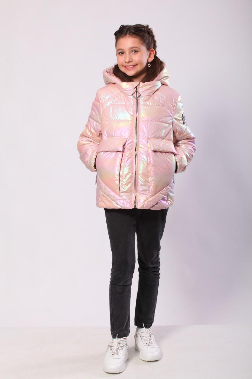 Куртка для дівчинки на весну 36-44 Персик