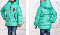 Р-р, 104-110, Куртка парка детская демисезонная, для девочки