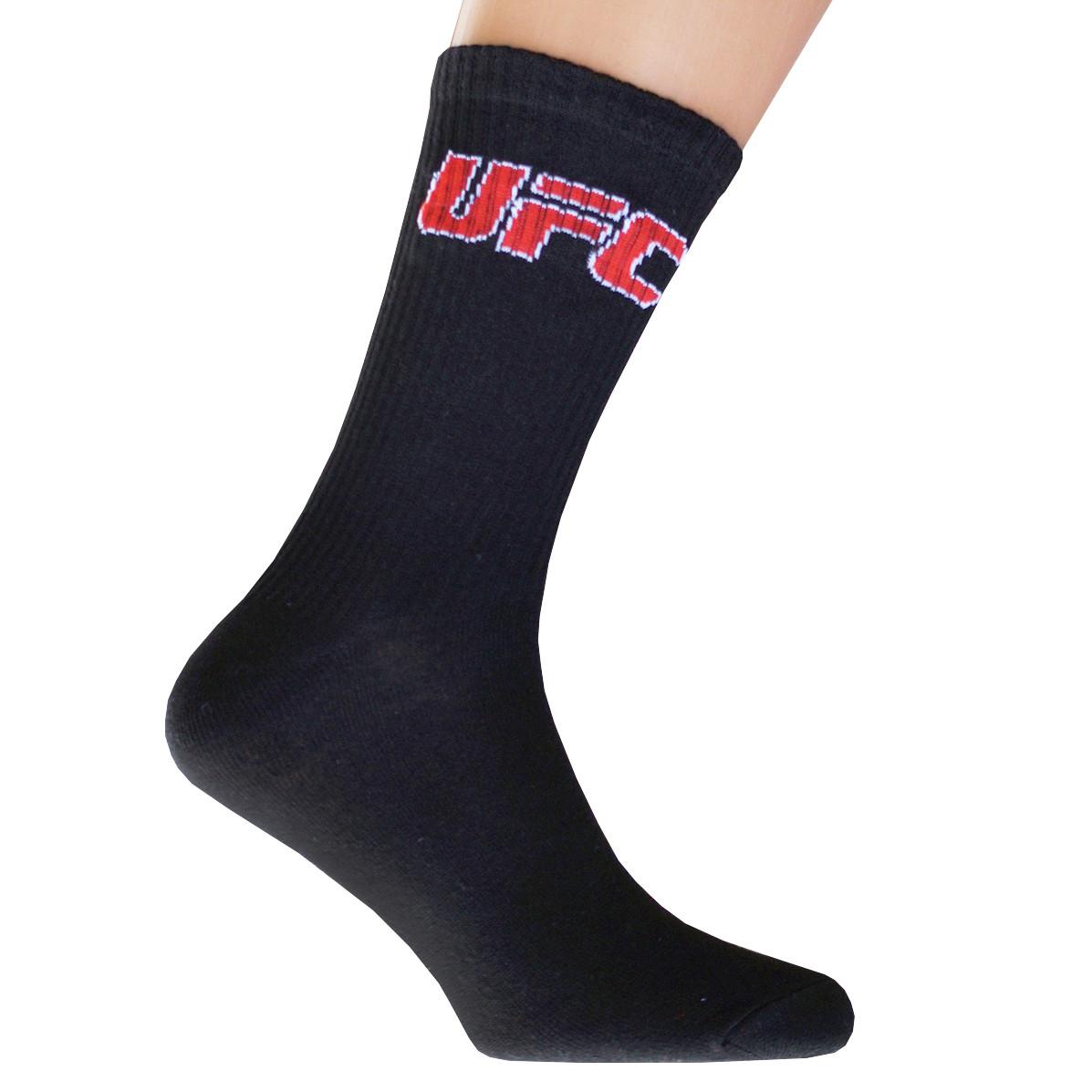 Носки спортивные компрессионные (высокая резинка ~20 см) подарочные UFC