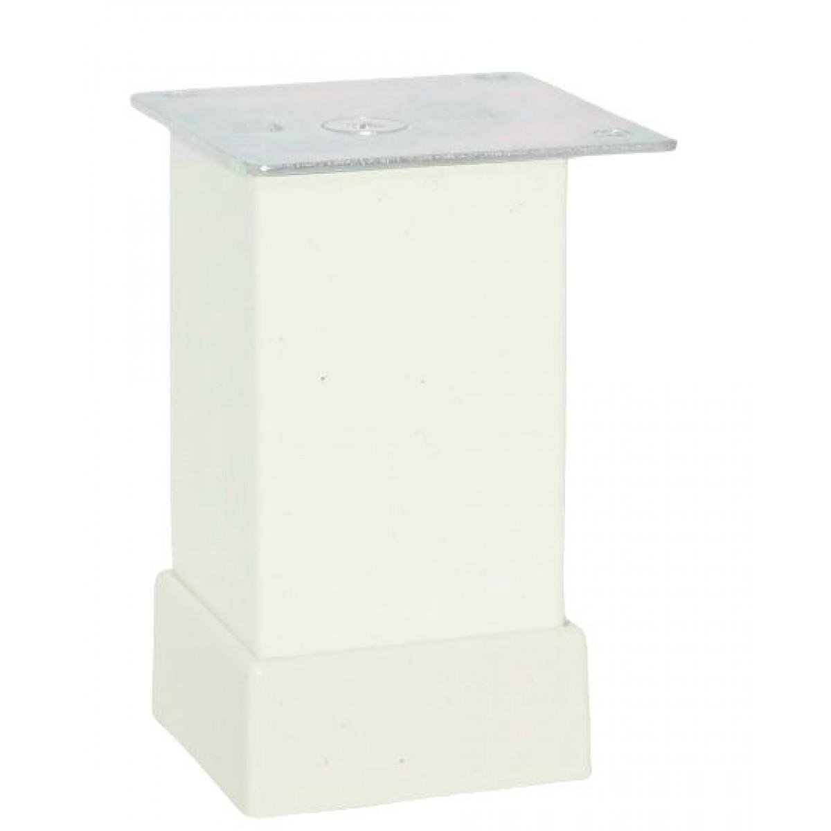 Ножка мебельная регулируемая Kare Duz 112-012, 40х40 мм, Н=80 мм Белая