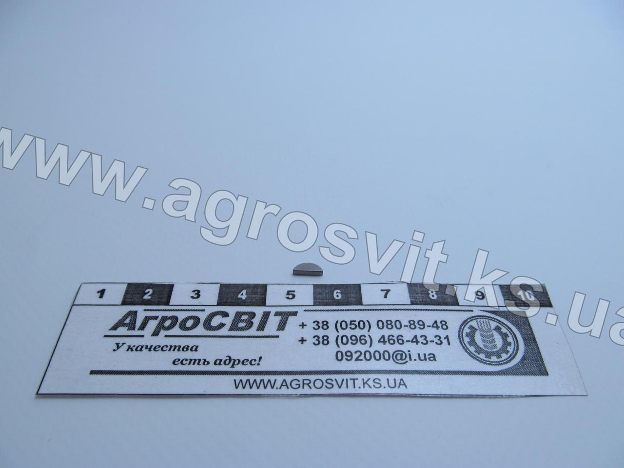 Шпонка сегментная 1,5х2,6х6,7 / 1,5х2,5х7 (DIN/ГОСТ)