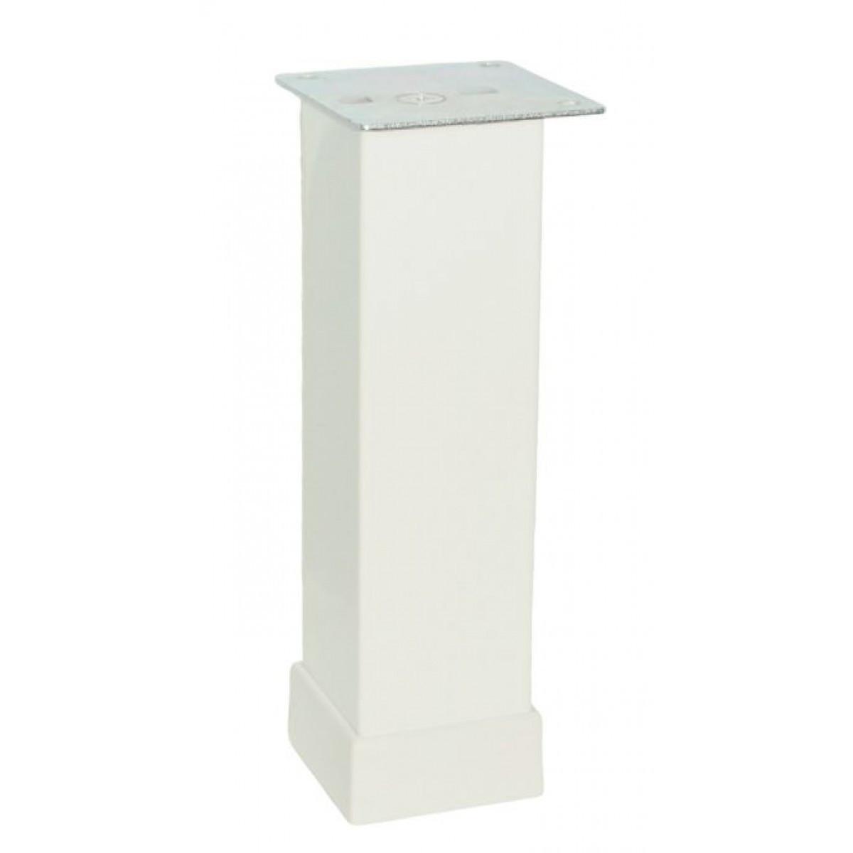 Ножка мебельная регулируемая Kare Duz 116-013, 40х40 мм, Н=150 мм Белая