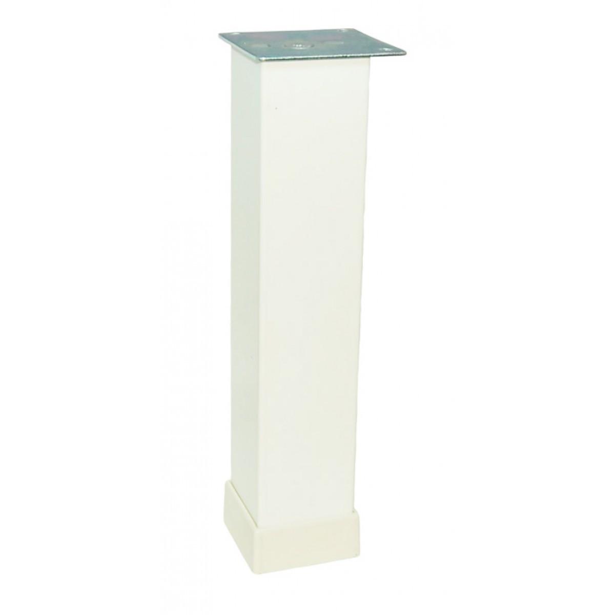 Ножка мебельная регулируемая Kare Duz 118-013, 40х40 мм, Н=200 мм Белая