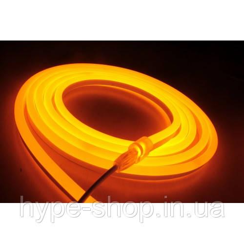 Гибкий светодиодный Неон 3м, толщина 2.3мм  оранжевый