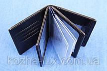 Кожаная обложка для документов много отделов, фото 2