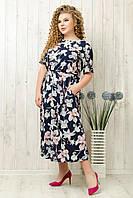 Женское летнее платье батал размеры 50-52-54. От производителя YLadies FashionV.