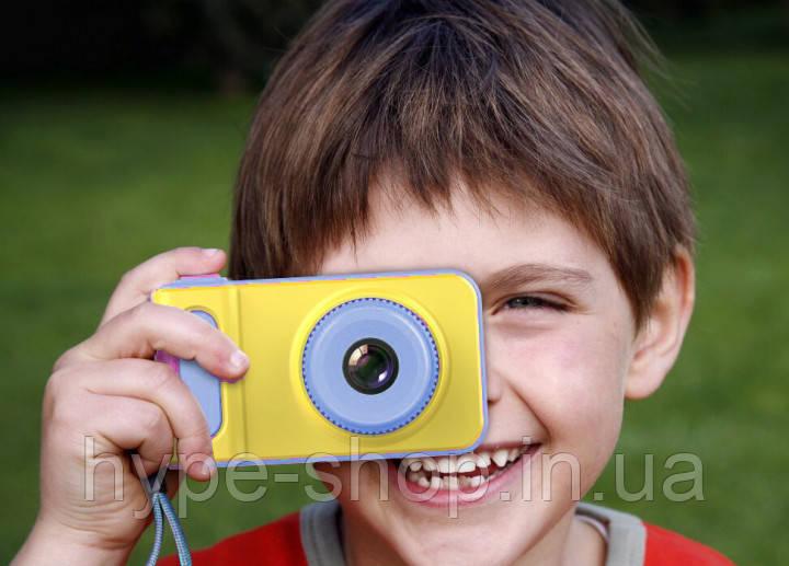 Дитячий цифровий фотоапарат UKC Smart Kids Camera. Жовто-блакитний