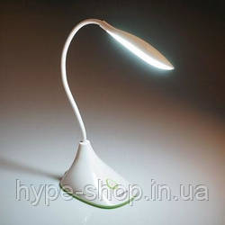 Світлодіодна лампа настільна Tiross TS-1823 акумуляторна 900 mAh, USB, 220v, 20 smd LED, touch вимикач