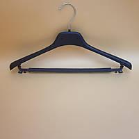 Вішак-плечики для легкого одягу з перекладиною та протиковзаючою губкою