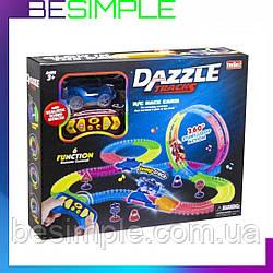 Детский трек для машинок на пульте управления DAZZLE TRACKS 187 | Трасса для машинок | Конструктор