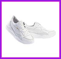Женские кроссовки из натуральной кожи Yuves 778 Лето/Осень (Белый)