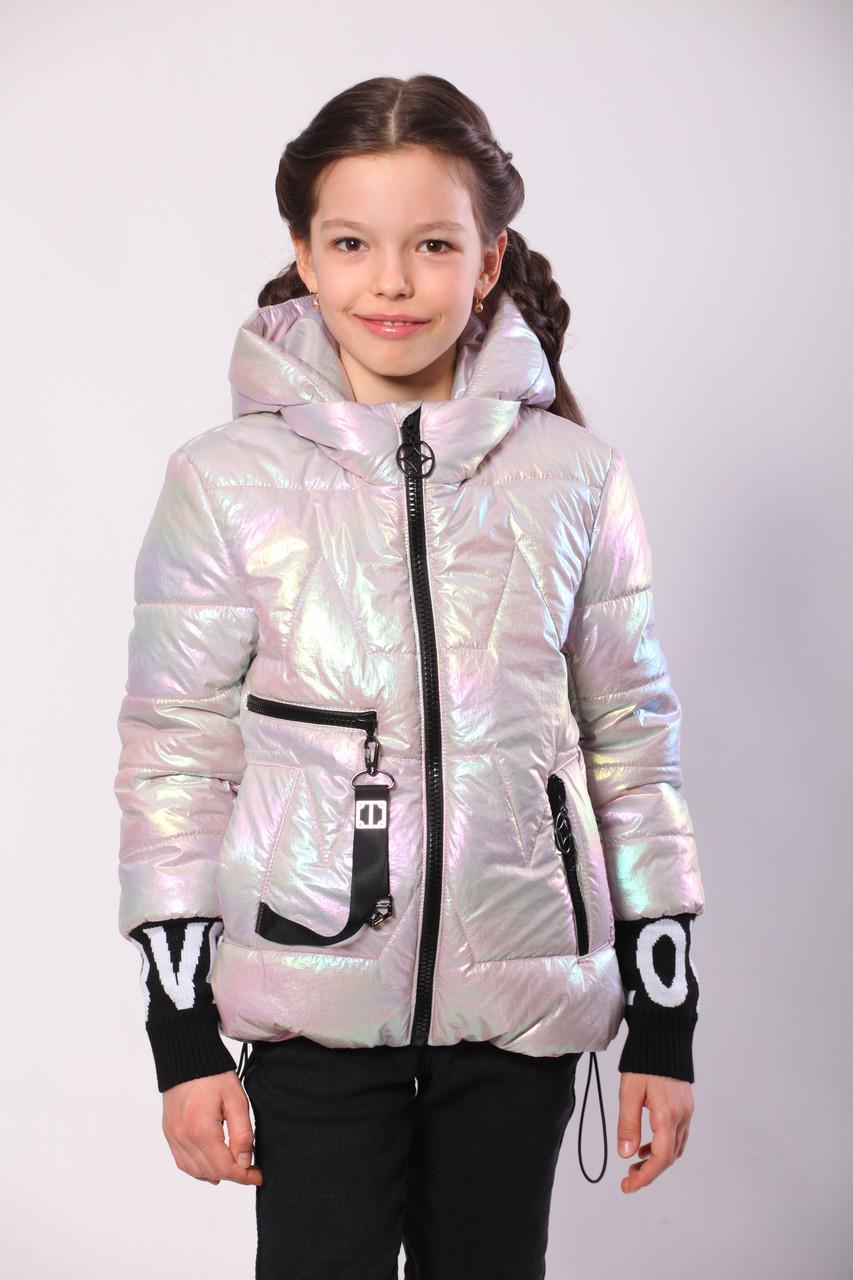 Весняна куртка на підлітка дівчинка 36-44 Пудра