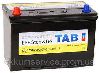 Аккумулятор автомобильный TAB EFB Asia 105AH R+ 900A (212105)