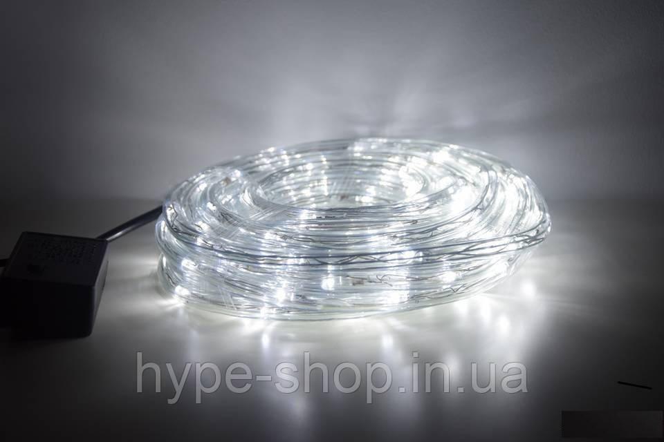 Дюрлайт светодиодная гирлянда шланг 180Led 10метров внутренний / внешний - уличный белый White