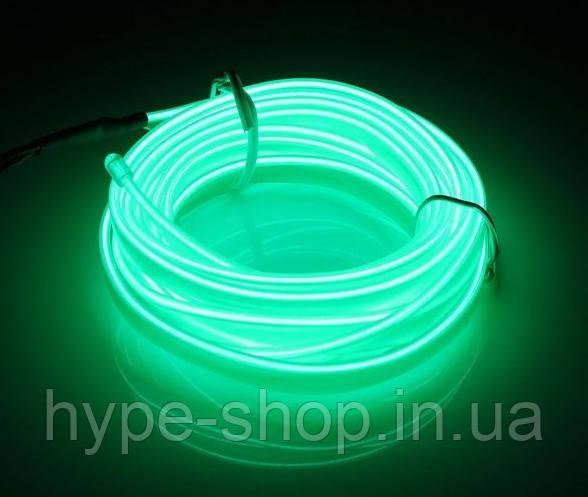Гибкий светодиодный неон LTL Флуоресцентный Neon Glow Light Fluorescent - 3 метра ленты на батарейках 2 AA