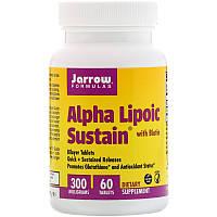 Альфа-липоевая кислота с биотином, Alpha Lipoic Sustain with Biotin Jarrow Formulas, 300 mg, 60 Tablets, фото 1