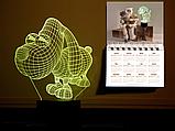 """Сменная пластина для 3D светильников """"Песик"""" 3DTOYSLAMP, фото 2"""
