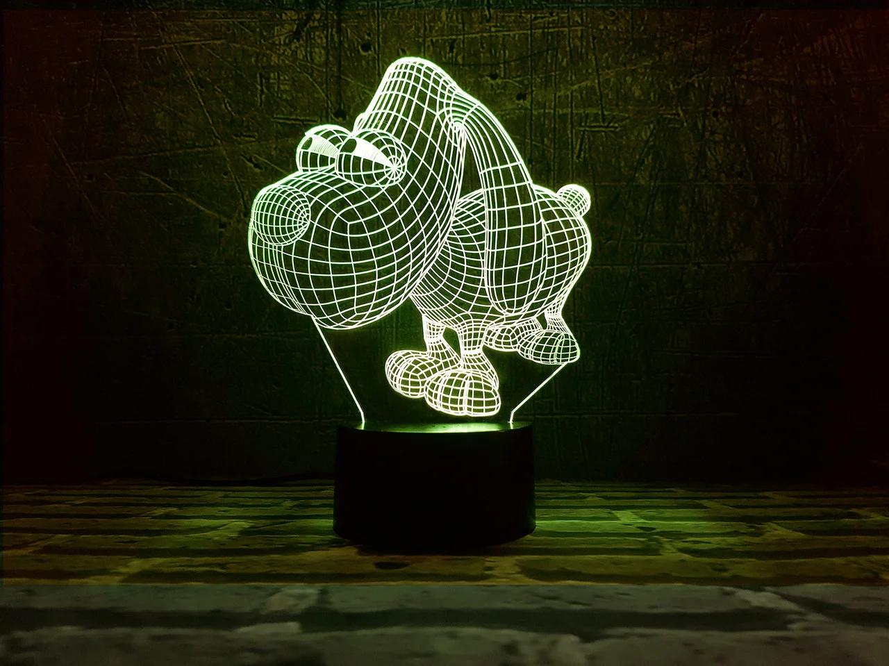 """Сменная пластина для 3D светильников """"Песик"""" 3DTOYSLAMP"""