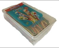 Жевательные лакричные конфеты трубочки в сахаре Damla Sour Pencil Rainbow 1500g Tayas Турция