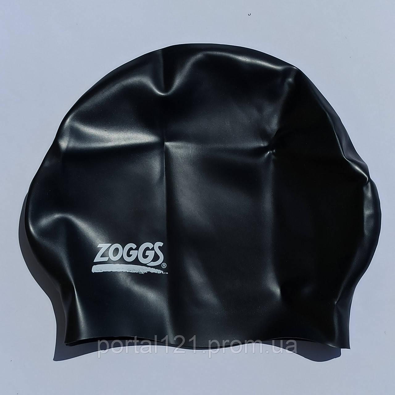 Шапочка для плавання доросла Zoggs Easy-Fit Silicone Swim Cap чорна