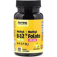 Метил B12 и метилфолат, Methyl B12 & Methyl Folate Jarrow Formulas 1000 мкг / 400 мкг, 100 леденцов, фото 1