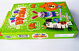Настільна карточна гра. Веселі букви. IQ гра для малюків. (Гра в дорогу) (Danko toys), фото 2
