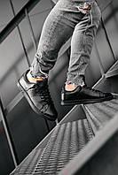 Мужские кроссовки Adidas Stan Smith Black \ Адидас Стен Смит Черные \ Чоловічі кросівки Адідас Стен Сміт Чорні