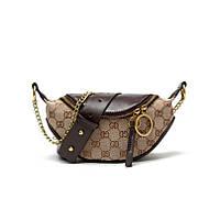 Новинка Женская поясная брендовая сумка бананка на пояс на плечо кроссбоди Gucci
