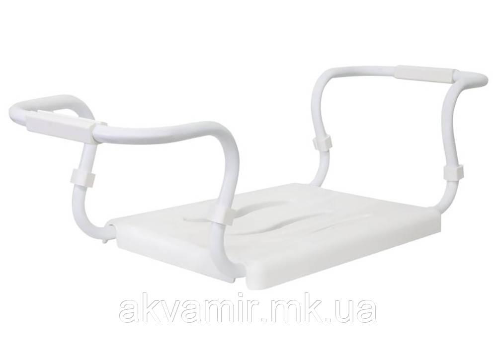 Сиденье на ванную раздвижное (белый каркас) для всех типов ванн (Турция)