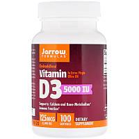 Витамин D3, Vitamin D3 Jarrow Formulas 5000 МЕ, 100 гелевых капсул, фото 1