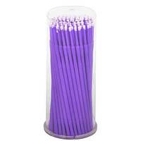 Палочки для коррекции и снятия ресниц (микробраши) в тубусе 100 шт Фиолетовый (1.5мм)