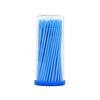 Палочки для коррекции и снятия ресниц (микробраши) в тубусе 100 шт Синий (2,5мм)