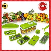Многофункциональная овощерезка  Nicer Dicer Plus ручная  для овощей, фруктов, сыра универсальная