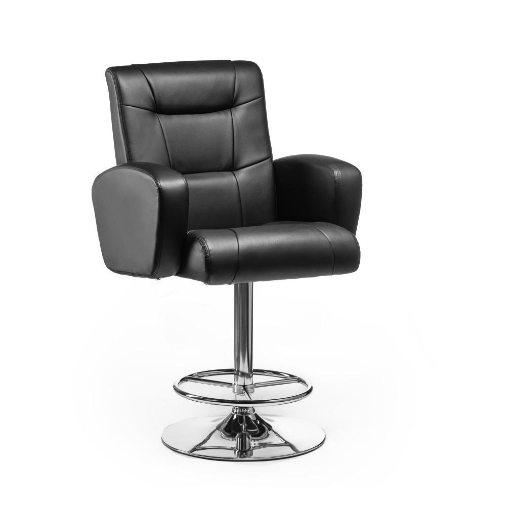 Кресло визажиста барный стул хокер Hrove Form HR310W черный хромированная основа