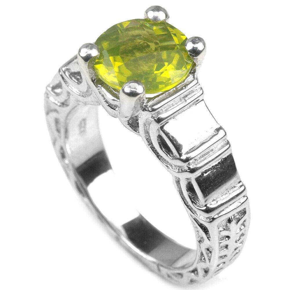Серебряное кольцо с хризолитом (перидот, оливин), 2401КЦХ