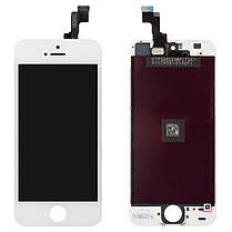 Модуль (сенсор + дисплей) Apple iPhone 5s / iPhone SE білий, фото 2