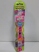 Детская Зубная щетка Firefly на Присоске с Таймером 1 минута США серия Shopkins мигает Светофор