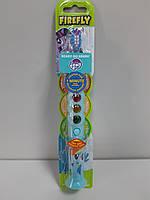 Детская Зубная щетка Firefly на Присоске с Таймером 1 минута США серия Little Pony мигает Светофор