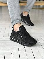Мужские кроссовки Nike Air Max 720 \ Найк Аир Макс 720 Черные  \ Чоловічі кросівки Найк Аір Макс 720 Чорні