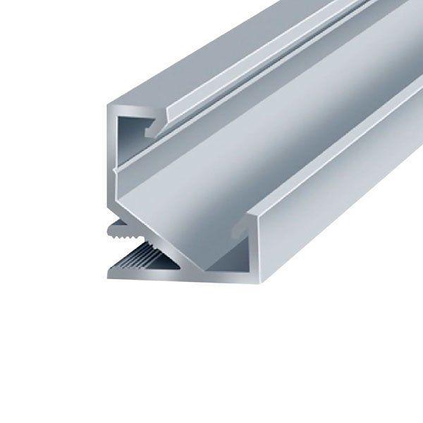 Профиль алюминиевый угловой 17х17 ЛПУ17 анодированный без рассеивателя 2м (цена 1м) BIOM