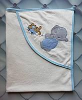 Полотенце детское для купания Голубой слоненок, Турция, 90х76
