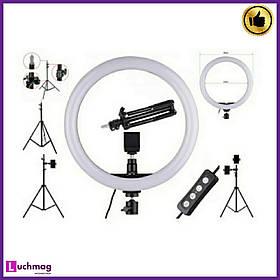 Кольцевая лед лапма для блогеров, визажистов LED-светильник 30см + Штатив-стойка 210см