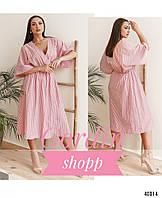 Изящное платье-кимоно большого размера