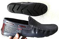 Мужские кожаные мокасины Levi's Levi levis 40,41,42,43,44, 45 Турция, фото 1