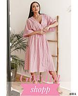 Изящное платье-кимоно большого размера Красный