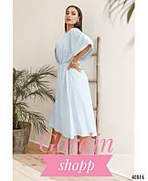 Изящное платье-кимоно большого размера Голубой